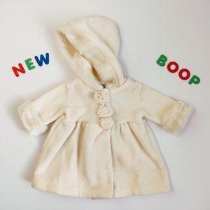 ⭐️NWOT⭐️Adorable Rose Fleece Coat 6M